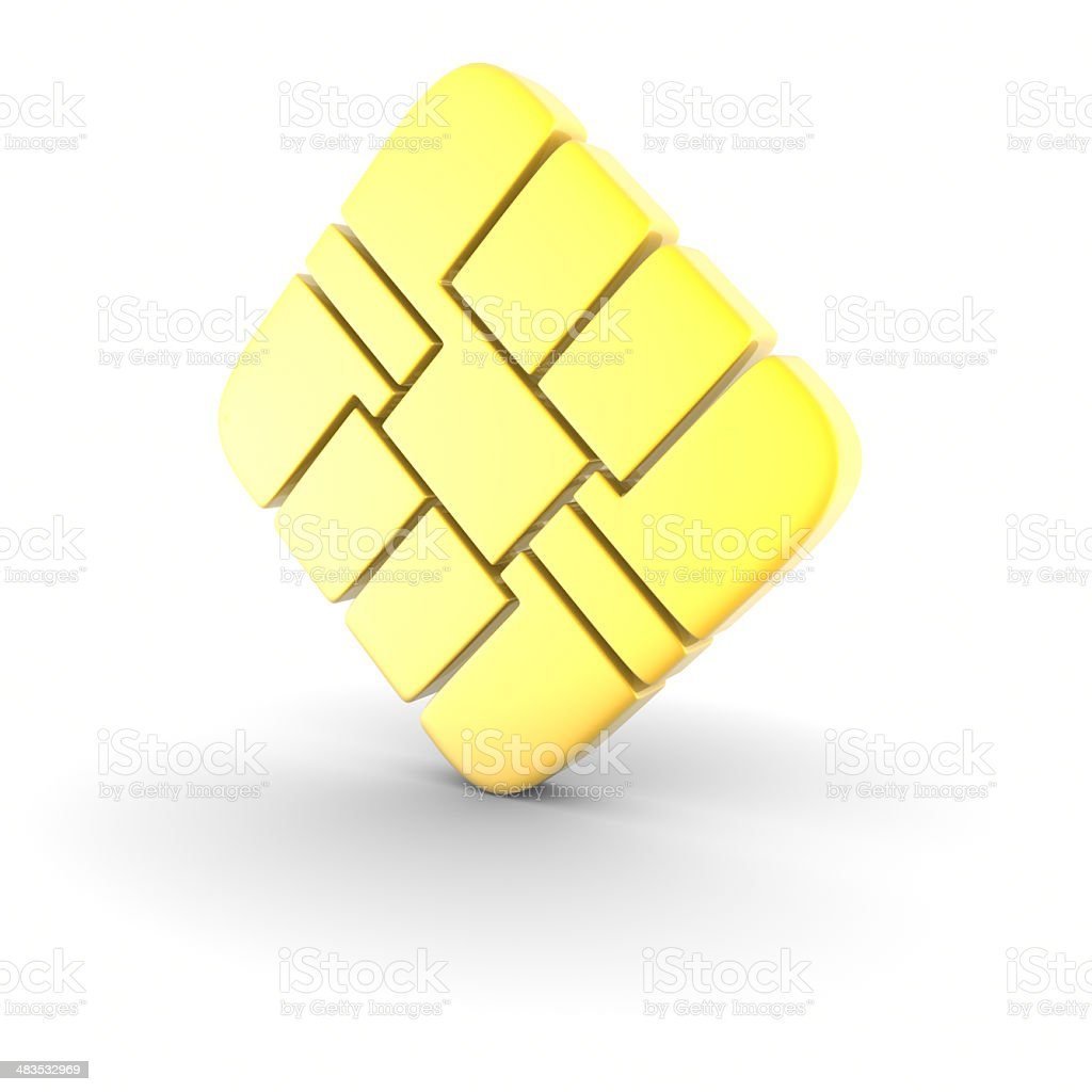 Smart Card Chip stock photo