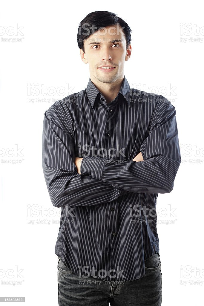Smart Casual Man Isolated on White stock photo