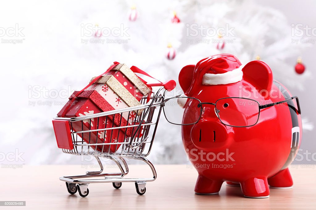 Smart Christmas Shopping stock photo