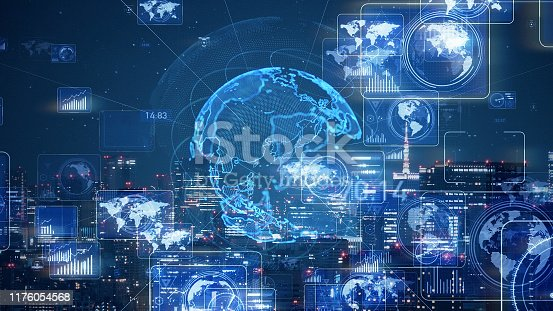 1169711469istockphoto Smart city and communication network concept. 5G. LPWA (Low Power Wide Area). Wireless communication. 1176054568