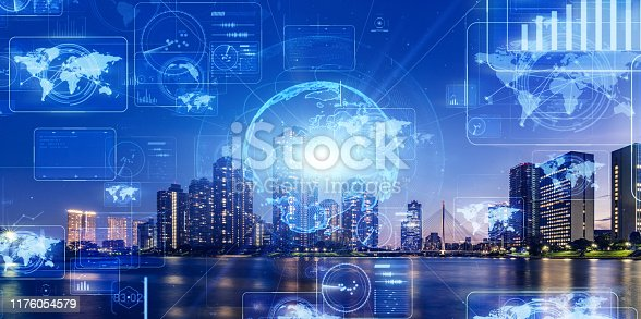 1169711469istockphoto Smart city and communication network concept. 5G. LPWA (Low Power Wide Area). Wireless communication. 1176054579