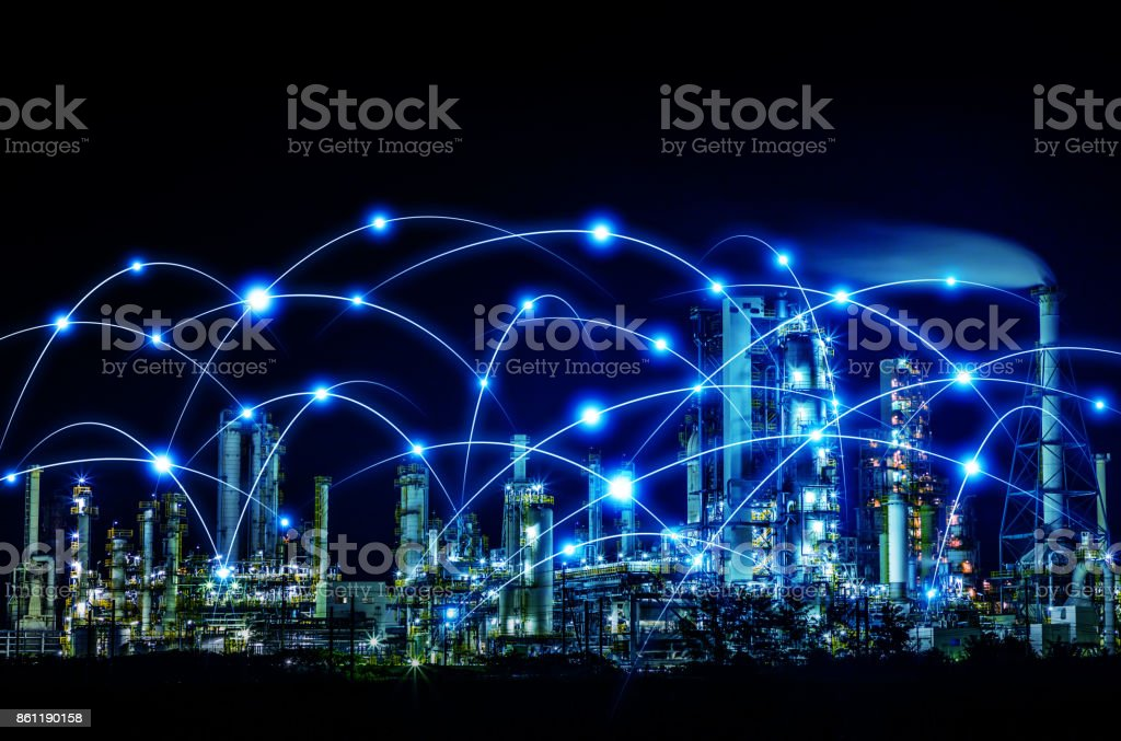 smart city and communication network concept. Internet of Things. Information Communication Network. abstract mixed media. stock photo