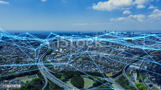 istock Smart city and communication network concept. 1146418758