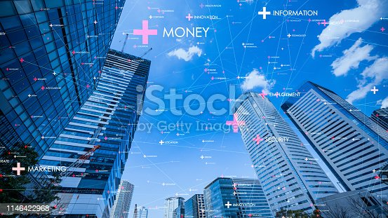 istock Smart city and communication network concept. 1146422968