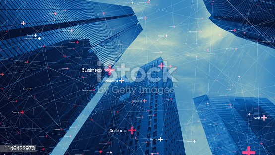 istock Smart city and communication network concept. 1146422973