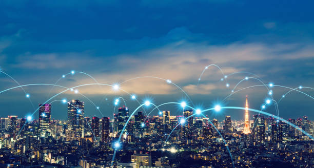 Smart city and communication network concept. Smart city and communication network concept. smart city stock pictures, royalty-free photos & images