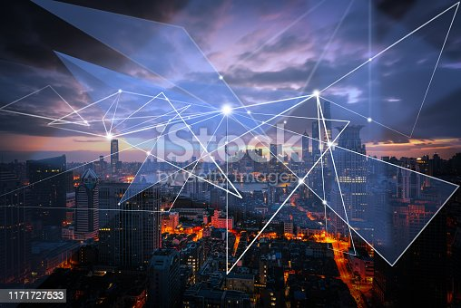 1019729218 istock photo Smart city and communication network concept 1171727533