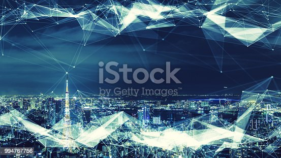 istock Smart city and communication network concept. 994767756