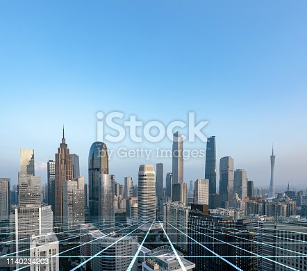 istock Smart city and connection lines 1140234203