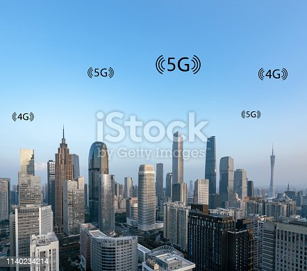 istock Smart city and connection lines 1140234214