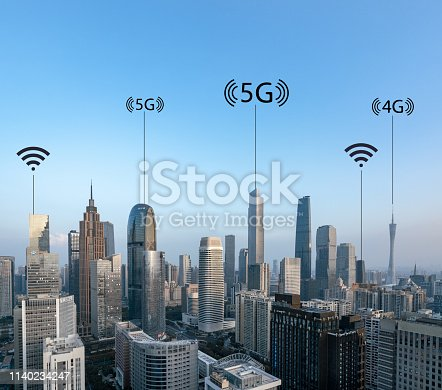 istock Smart city and connection lines 1140234247