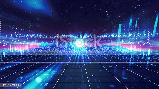 1082409706 istock photo smart city and  Digital landscape in  cyber world.3d illustration 1218779996