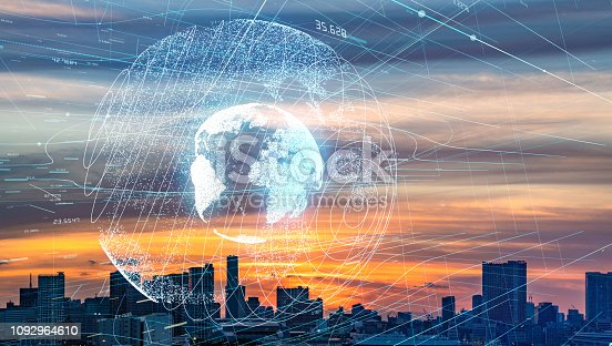 813402032istockphoto Smart city and global communication network concept. 1092964610
