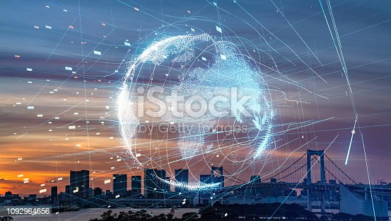 813402032istockphoto Smart city and global communication network concept. 1092964656