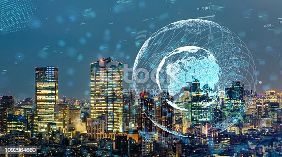 813402032istockphoto Smart city and global communication network concept. 1092964660