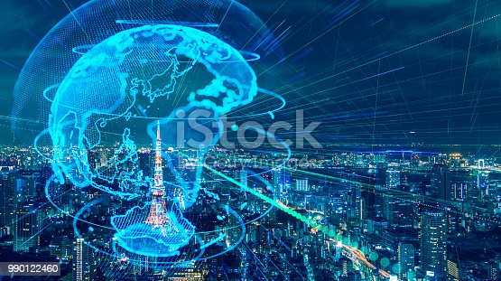 istock Smart city and global network concept. IoT(Internet of Things). ICT(Information Communication Technology). 990122460