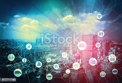 istock Smart city and Internet of Things concept. 872711180