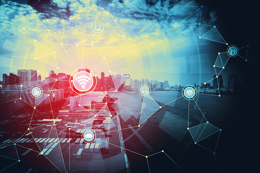 613881746 istock photo Smart city and Internet of Things concept. 875478234