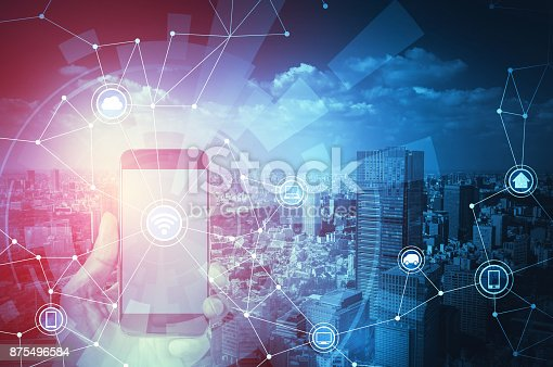 istock Smart city and Internet of Things concept. 875496584