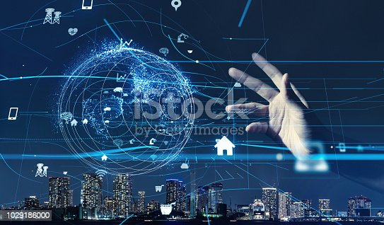 1019164310istockphoto Smart city and IoT (Internet of Things) concept. ICT (Information Communication Technology). 1029186000
