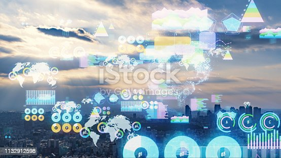 1154261846 istock photo Smart city and statistics concept. IoT (Internet of Things). 1132912598
