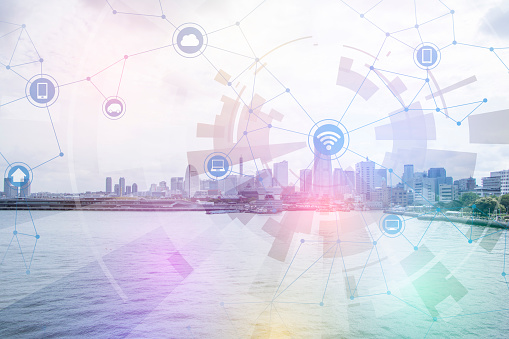680917060 istock photo smart city and wireless communication network, abstract image visual, internet of things 664610404
