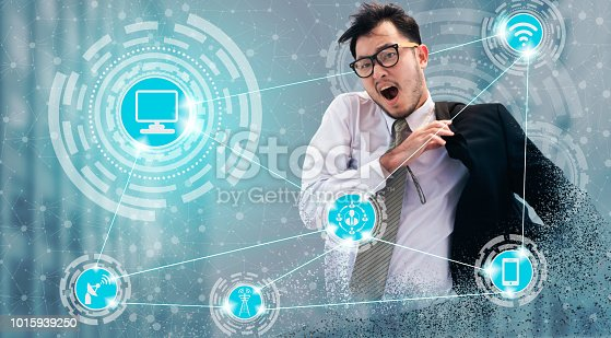 istock Smart city and wireless communication network. 1015939250