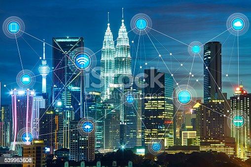 istock smart city and wireless communication network 539963608