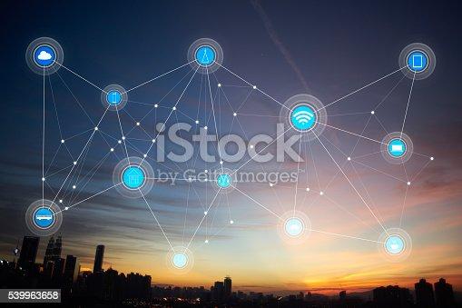 istock smart city and wireless communication network 539963658