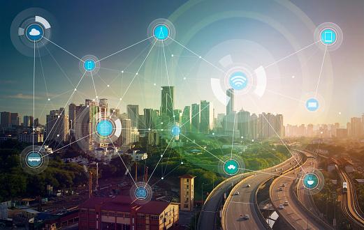 istock smart city and wireless communication network 539964528