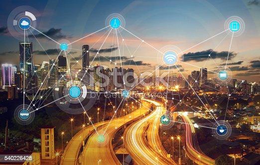 istock smart city and wireless communication network 540226428