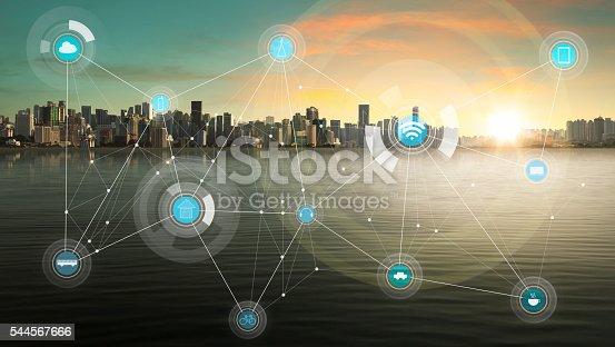 istock smart city and wireless communication network 544567666