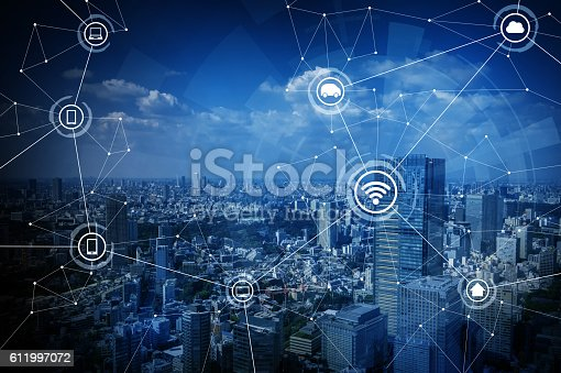istock smart city and wireless communication network 611997072