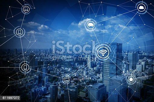 540226428 istock photo smart city and wireless communication network 611997072
