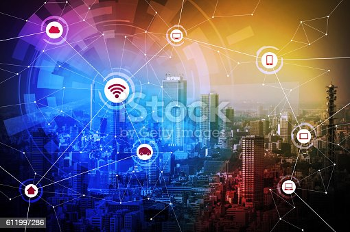 istock smart city and wireless communication network 611997286