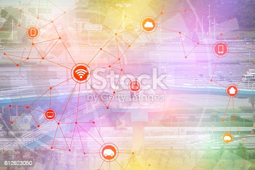 istock smart city and wireless communication network 612623050