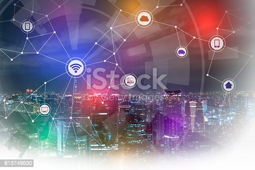 istock smart city and wireless communication network 613749530