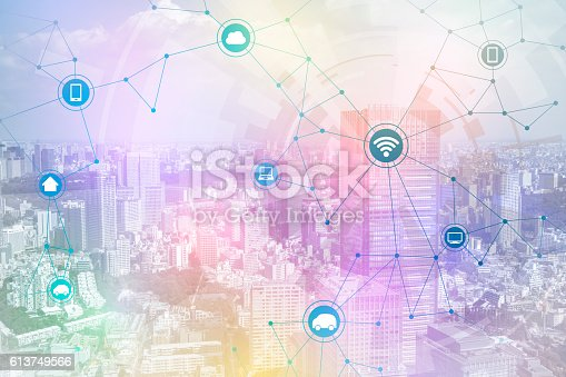 istock smart city and wireless communication network 613749566