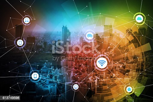 istock smart city and wireless communication network 613749598