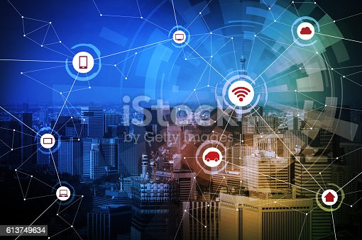 istock smart city and wireless communication network 613749634