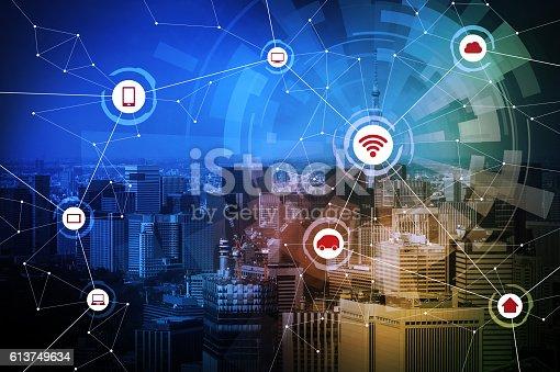 540226428 istock photo smart city and wireless communication network 613749634