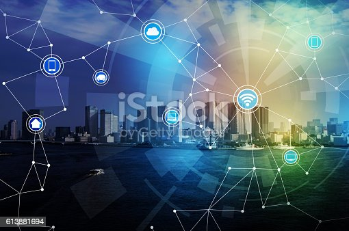 istock smart city and wireless communication network 613881694