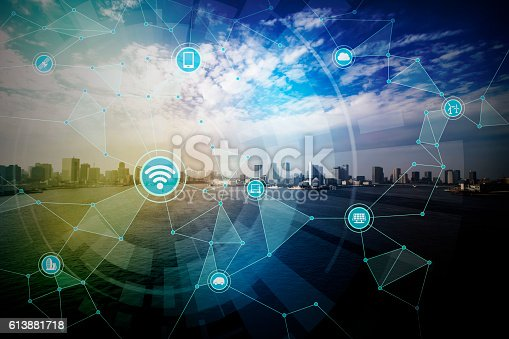 istock smart city and wireless communication network 613881718