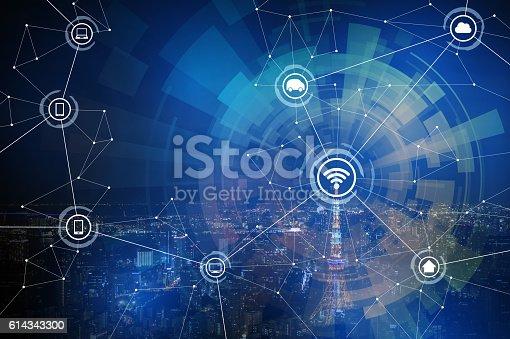 611997072 istock photo smart city and wireless communication network 614343300