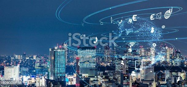 1129543866 istock photo Smart city concept. 1090039188