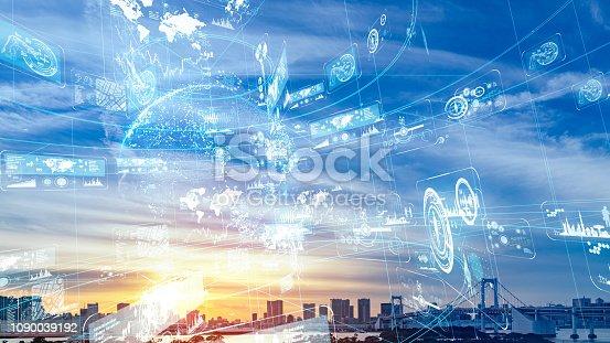 istock Smart city concept. 1090039192