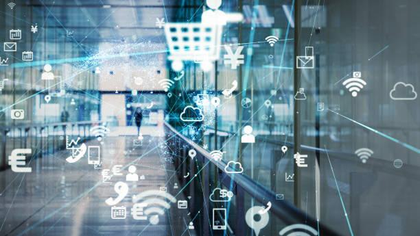smart city-konzept. - digitale verbesserung stock-fotos und bilder