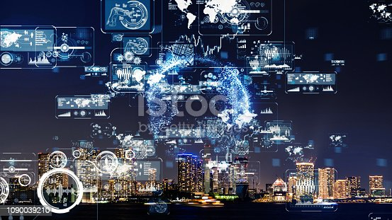 1129543876 istock photo Smart city concept. 1090039210