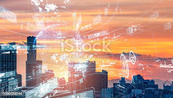 1129543866 istock photo Smart city concept. 1090039244
