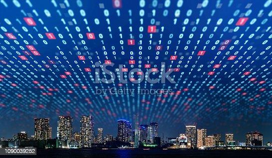 1129543866 istock photo Smart city concept. 1090039252